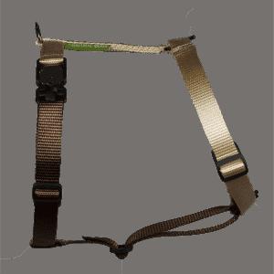 Duo-color tuigje beige-bruin