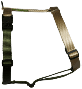 Duo-color tuigje beige-legergroen