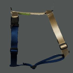 Duo-color tuigje beige-marineblauw