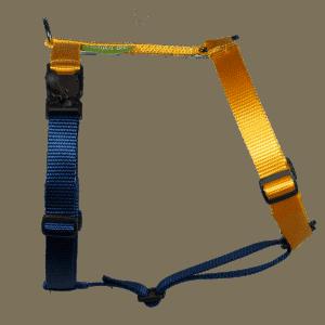 Duo-color tuigje citrusgeel-marineblauw