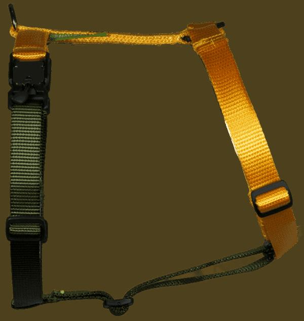 Duo-color tuigje citrusgeel-legergroen
