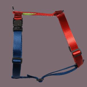 Duo-color tuigje rood-marineblauw